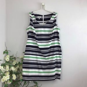 Dressbarn Striped Stretch Sheath Dress
